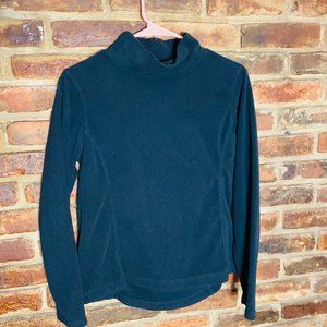 Lands End Fleece Turtleneck Sweater Size XS